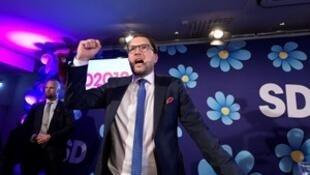 瑞典議會選舉中左翼聯盟略微領先。2018-09-09