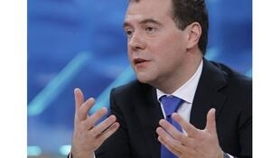 Dmitry Medvedev is expected to discuss Syria when he meets French president François Hollande on Tuesday