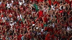 Les supporters marocains lors de la rencontre face au Portugal à Moscou, le 20 juin 2018.