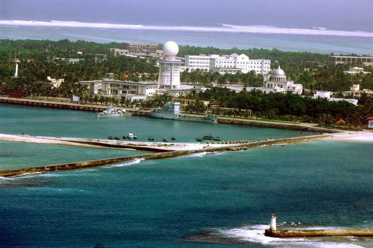 Đảo Phú Lâm (Woody Island), quần đảo Hoàng Sa, hiện Trung Quốc kiểm soát, Việt Nam đòi hỏi chủ quyền. Ảnh chụp ngày 27/07/2012.