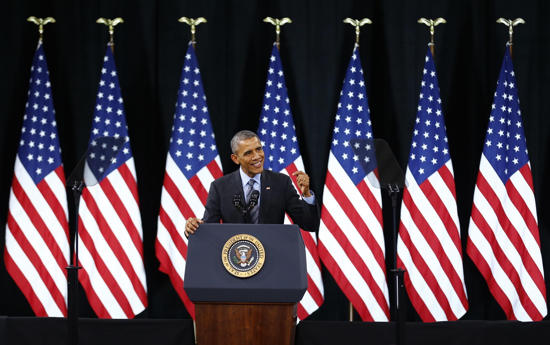 Tổng thống Mỹ Barack Obama phát biểu tại trường trung học Del Sol, Las Vegas, Nevada, ngày 21/11/2014