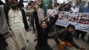 Người Thiên chúa giáo Pakistan biểu tình lên án hai vụ nổ bom ở Lahore ngày 15/03/2015.