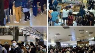 「黃店」阿布泰聲稱被海關打壓,各分店均出現購物人龍,以示「懲罰」