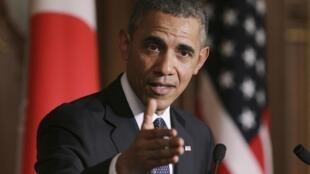 Le président américain Barack Obama, à Tokyo, le 24 avril 2014.