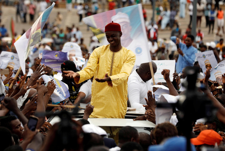 Le candidat à la présidentielle camerounaise Cabral Libii lors de son dernier meeting le 6 octobre 2018 à Yaoundé.