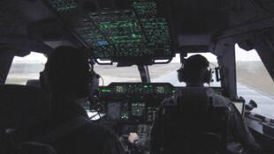 A bord de l'Airbus A400M Atlas.