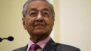 Thủ tướng Malaysia Mahathir Mohamad trong cuộc họp báo tại Putrajaya, Malaysia, 18/09/2019.