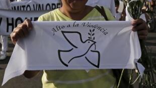 Rassemblement pour la paix suite aux violences dans l'Etat de Jalisco, à Guadalajara, le 9 mai 2015.