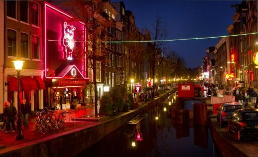 The 'Wallen' is Amsterdam's seedy red light district where prostitutes ply their trade