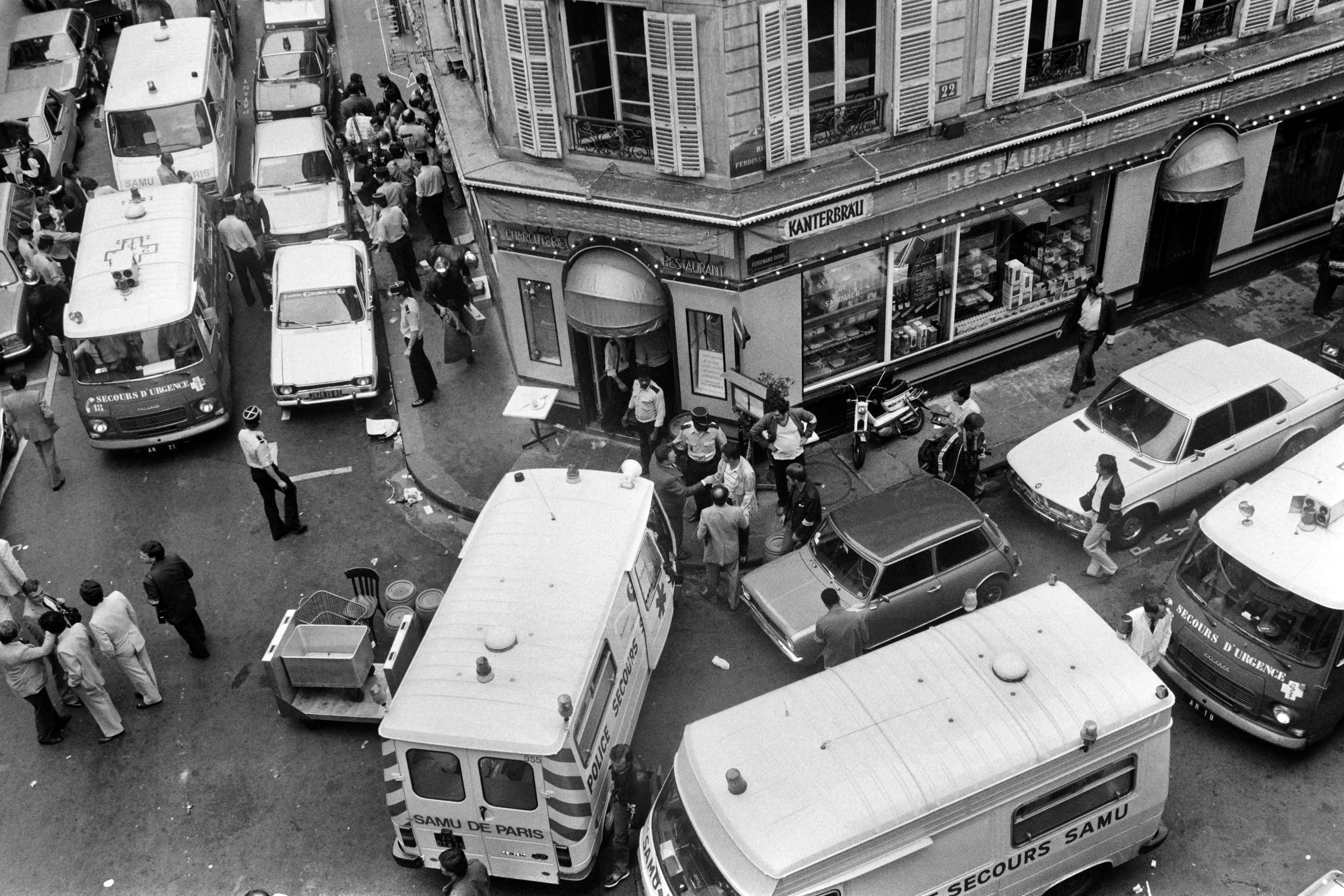 On August 9, 1982, armed men attacked a Jewish restaurant on Rue des Rosiers in Paris, killing six people and injuring 22 others.