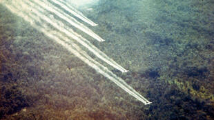 Chất khai quang, trong đó chất độc màu da cam được rải xuống miền Nam Việt Nam trong thời kỳ chiến tranh.