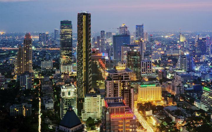 圖為泰國曼谷遠眺景色