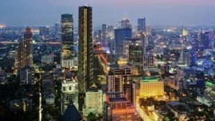 图为泰国曼谷远眺景色