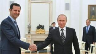 Vladimir Putin y Bashar al-Asad, el pasado 21 de octubre de 2015 en Moscú.