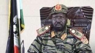 South Sudan's President Salva Kiir in his office in Juba, 16 December, 2013