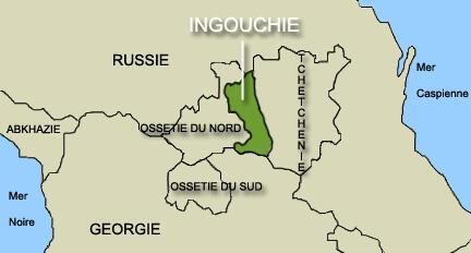 L'Ingouchie, dans le Caucase, a pour frontières l'Ossétie du Nord et la Tchétchénie.