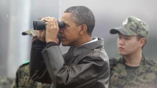 TT Obama tại vùng phi quân sự Triều Tiên ngày 25/03/2012