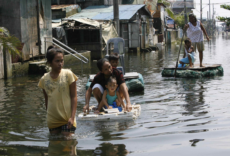 Manille, lors des inondations meurtrières d'août 2012.