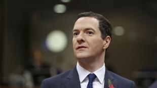 Le ministre britannique des Finances George Osborne, à Bruxelles, le 7 novembre 2014.