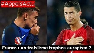 Antoine Griezmann (left) has scored six goals in France's push for glory. Cristiano Ronaldo has netted three times .