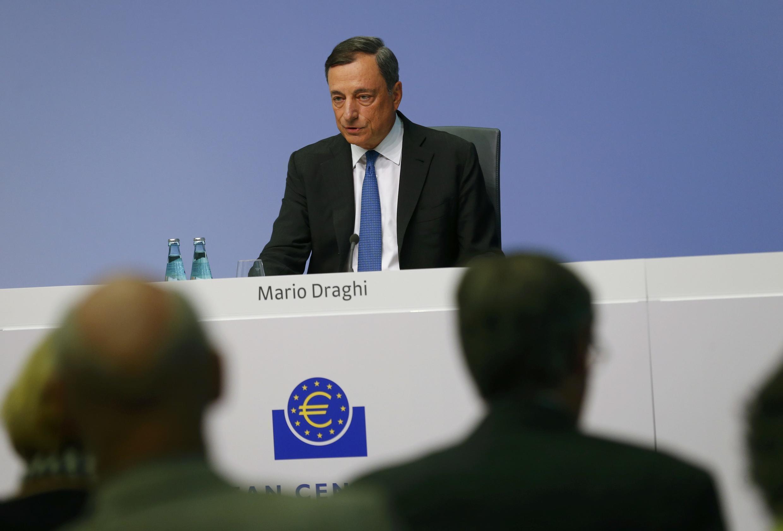 Le président de la Banque centrale européenne (BCE) Mario Draghi, lors d'une conférence de presse à Francfort, le 3 septembre 2015.