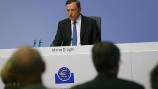 El presidente del Banco Central Europeo, Mario Draghi, en una rueda de prensa en Francfort el pasado mes de septiembre.