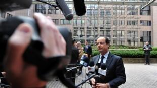 François Hollande à son arrivée au sommet européen de Bruxelles du 22 mai.