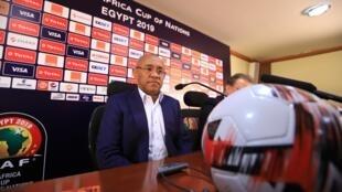 Le président de la CAF, le Malgache Ahmad, à la veille du match d'ouverture de la CAN 2019, le 20 juin au Caire.