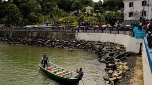 Porto de Santo António, ilha do Príncipe. Imagem de arquivo.