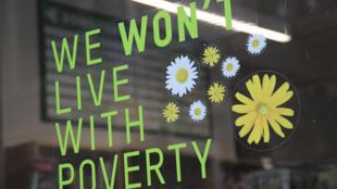 Campagne contre la pauvreté d'Oxfam au Royaume-Uni en 2016.