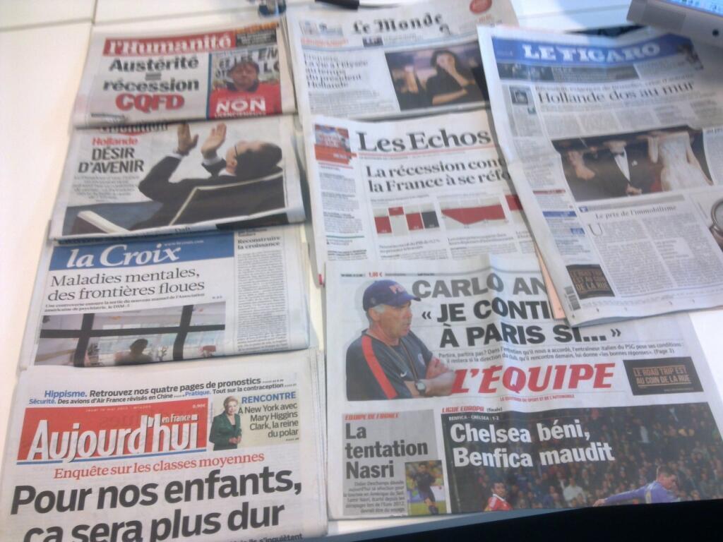 Diários franceses  16/05/2013