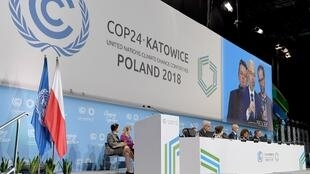 """گشایش بیستوچهارمین کنفرانس تغییرات آب و هوایی سازمان ملل متحد موسوم به """"کاپ ٢٤""""، در شهر """"کاتوویتس"""" لهستان. یکشنبه ٢ دسامبر/ ١١ آذرماه  ٢٠۱٨"""