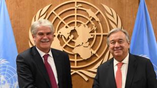 Le ministre espagnol des Affaires étrangères, Alfonso Dastis, pendant la 72ème Assemblée Générale des Nations unies, à New York, le 21 septembre 2017.