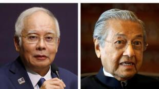 លោក Najib Razak និង លោល Mahathir Mohamad.