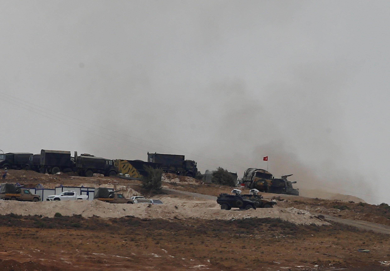 Grandes manoeuvres turques sur la zone frontalière syrienne, le 9 octobre 2017.