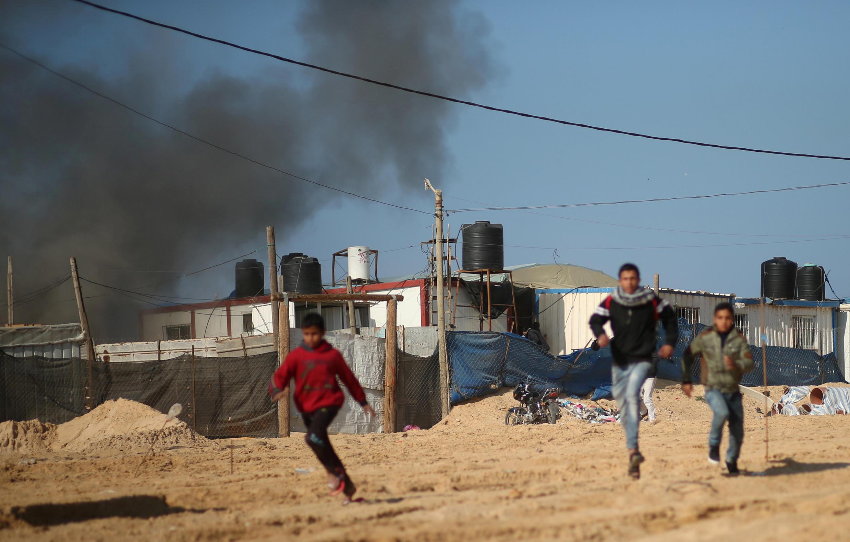 加沙北部哈马斯的一个哨所遭遇以军袭击 2017年2月6日
