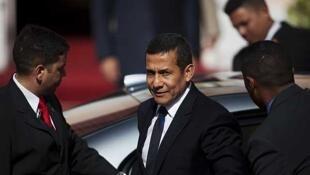 Ollanta Humala en Venezuela, el 15 de julio de 2011.