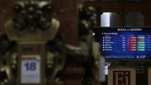 Компьютер мадридской биржи 18/03/2013