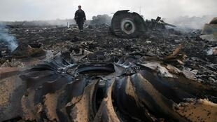 Hiện trường xác máy bay Boeing MH17 của hãng hàng không Malaysia, bị tên lửa bắn rơi ngày 17/07/2014 tại vùng Donetsk.