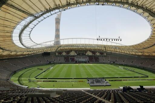 The already-completed Khalifa International Stadium in Doha will host the World Athletics Championships next year