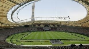 The already-completed Khalifa International Stadium in Doha will host the World Athletics Championships next year