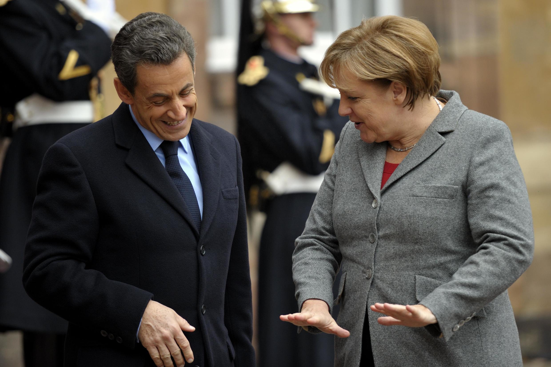 Президент Франции Николя Саркози и канцлер Германии Ангела Меркель в Страсбурге 24 ноября 2011