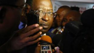 Soumaïla Cissé lors de la campagne électorale pour la présidentielle malienne de 2013.