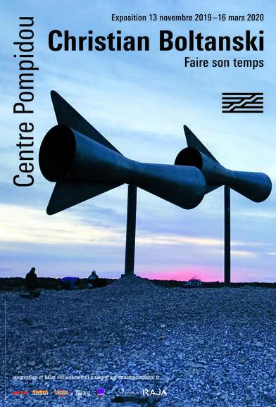 """蓬皮杜中心举办克里斯蒂安·波尔坦斯基(Christian Boltanski)的回顾展""""时光流逝""""的海报。"""
