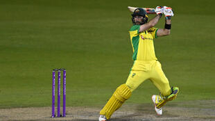 Stunning hundred - Australia's Glenn Maxwell on his way to a century in a stunning three-wicket win over England in the 3rd ODI at Old Trafford