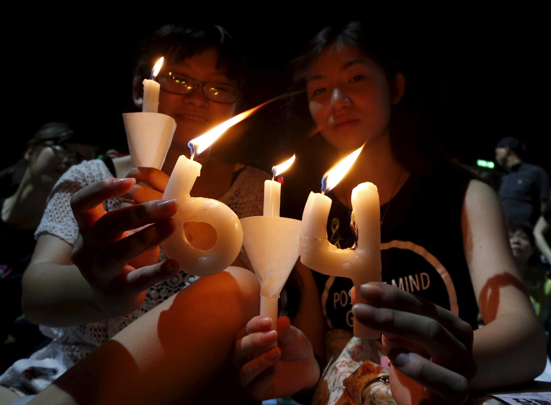 資料圖片,香港維多利亞公園曾經舉行紀念六四26周年燭光晚會,2021 年未被允許