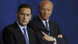 Министр иммиграции Франции Эрик Бессон и Министр внутренних дел Брис Ортфё