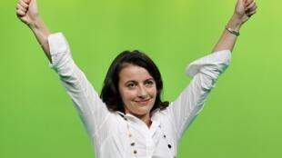 La secrétaire nationale d'Europe Ecologie-Les Verts (EELV), Cécile Duflot.