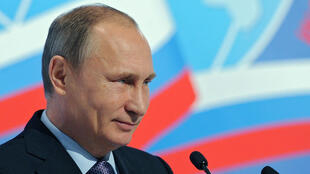 Le président russe, Vladimir Poutine, durant son discours au 5e congrès des compatriotes, à Moscou le 5 novembre 2015.