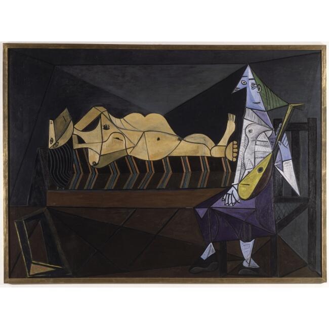 """""""La alborada"""" de Pablo Picasso, forma parte de la exhibición """"Arte en guerra""""."""